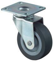 Lenkrolle Rad-D. 50 mm Tragfähigkeit 40 kg mit Anschraubplatte Gummi grau