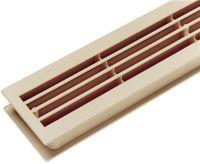 Badezimmerlüftung Länge 452 mm Breite 92 mm Kunststoff ähnl. reinweiß Ecken gerade