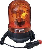 Rundumkennleuchte orange mit Magnetsockel und Gummisauger