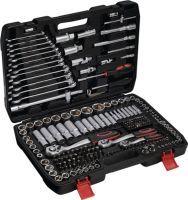 NOW Steckschlüsselsatz 215-teilig  1/4 + 3/8 + 1/2 Zoll Schlüsselweiten 4-32 mm Anzahl Zähne 72/72/7