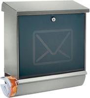 BURG-WÄCHTER Briefkasten Lucca-Set 3713 Ni Letter Höhe 440 mm Breite 380 mm Tiefe 148 mm Edelstahl D