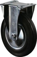 Bockrolle Rad-D. 160 mm Tragfähigkeit 135 kg Vollgummi Platte L135xB110 mm