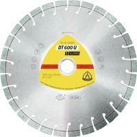 KLINGSPOR Diamanttrennscheibe DT 600 U Supra D. 180 mm Bohrung 22,23 mm 9 mm 20 mm
