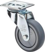 Lenkrolle Rad-D. 50 mm Tragfähigkeit 50 kg mit Anschraubplatte Gummi grau