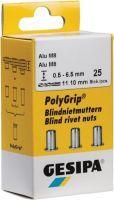 GESIPA Blindnietmutter PolyGrip® Nietschaft d x l 11 x 20 mm M8 Edelstahl A2 25 Stück
