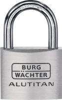 BURG-WÄCHTER Zylindervorhangschloss 770/30 Schlosskörperbreite 30 mm Alu verschiedenschließend