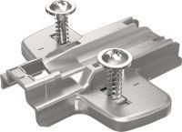 HETTICH Montageplatte System 8099 Sensys Stahl vernickelt 0 mm Pilotzapfen und Spezialschrauben