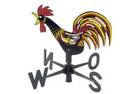 Wetterhahn Windspiel mit Windrichtungsanzeiger wetterfest 2-farbig ()