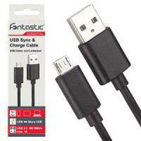 Fontastic Essential USB-A 2.0 > MicroUSB Datenkabel, 0,8 m, schwarz