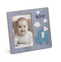 KPH Babyrahmen Babyfant blau 10x15 cm, aus Holz
