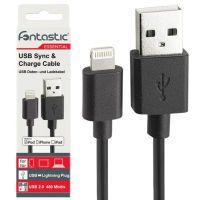 Fontastic Essential USB-A auf Lightning Datenkabel, 1 m, schwarz