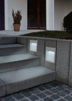 EGLO Außenleuchte -WANDEINBAUL.M.LED SILBER 'ZIMBA-LED' (89544)