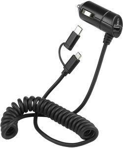 Fontastic Kfz-Ladekabel Nano Connect Micro-USB 3A+ USB-C Adapt