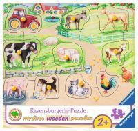 "Ravensburger Kinderpuzzle ""Morgens auf dem Bauernhof"" 10 Teile ab 2 Jahre Puzzle von Ravensburger"