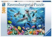 """Ravensburger Erwachsenenpuzzle """"Delfine im Korallenriff"""" 500 Teile ab 10 Jahre Puzzle von Ravensburger"""