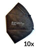 FFP2 Maske schwarz einzelverpackt 10 Stück Mundschutzmasken & Nasenschutzmasken Arbeitsschutz