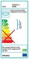 EGLO LED-Deckenleuchte  Ø445 SCHWARZ/WEISS 'RIODEVA-C' (96996)