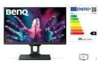 BENQ PD2500Q 63,50cm 25Zoll Wide LED Display WQHD 2560 x 1440 16:9 20 Mio:1 350 cd/m 4ms HDMI DP 4x