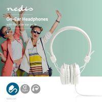Nedis On-Ear-Kopfhörer mit Kabel / 3.5 mm / Seillänge: 1.20 m / Weiss