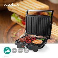 Nedis Kontakt Grill / 2200 W / 29 x 24 cm / Automatischer Temperaturkontrolle / Metall