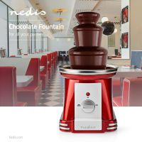 Nedis Chocolate Fontains / 90 W / 320 mm / Red / Weiss