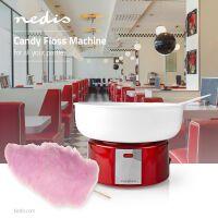 Nedis Zuckerwattemaschine / 500 W / Red / Weiss