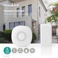 Nedis Drahtlose Türklingel Set / Netzstromversorgung / 80 dB / Signalreichweite: 100 m / IP44 / Verstellbares Volumen / 36 Melodien / 1 Empfänger / Weiss