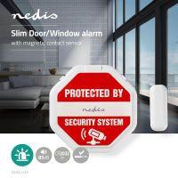 Nedis Tür-Fenster-Alarm / Magnetic Sensor / Batteriebetrieben / 2x CR2032 / 85 dB / Weiss