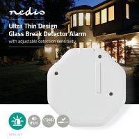 Nedis Glasbruch-Alarm / Ausgelöst durch: Vibration / Batteriebetrieben / 2x CR2032 / 85 dB / Weiss