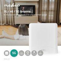 Nedis 5G / 4G / 3G Antenne / GSM / 3G / 4G / 5G / Innen- und Aussenbereich / 698-5000 MHz / Verstärkung dBi (bei Antennenkabel): 6 dB / 2.50 m / Weiss