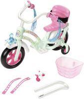 Zapf Creation 826652 BABY born Play & Fun Fahrrad Puppenzubehör mit Licht-Funktion und Hupe und weiteren Extras 43 cm