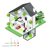 Nedis Kohlenmonoxid-Alarm / Batteriebetrieben / EN konform: EN 50291 / Mit Pausentaste / Mit Testtaste / 85 dB / Weiss