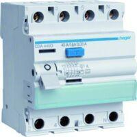 Hager Fehlerstrom-Schutzschalter 4-polig 6 kA 40 A 30 mA Typ A VS
