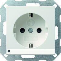 Gira SCHUKO-Steckdose KS LED-Beleuchtung für System 55 reinweiß