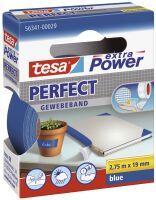 TESA 56341-00029-03 19mmx2,75m Gewebeband Perfect blau