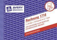 """Avery Zweckform Formularbuch""""Rechnung"""" SD 2 x 40 Blatt A6 quer - A6"""