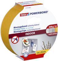 TESA Powerbond INDOOR 5m Weiß 1Stück(e) Tonbandkassette