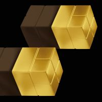 SIGEL GL721 SuperDym Magnet Cube 2ST gold