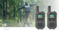 Nedis Walkie-Talkie-Set / 2 Hörer / Bis zu 5 km / Frequenzkanäle: 8 / PTT / VOX / Bis zu 2.5 Hours / Schwarz