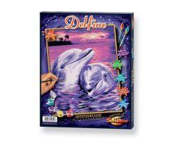 Malen nach Zahlen MNZ - Delfine