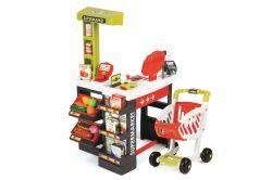Smoby Supermarkt mit Einkaufswagen (rot/grün)