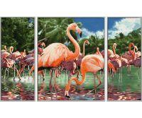 Malen nach Zahlen MNZ - Flamingos