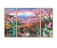 Malen nach Zahlen MNZ - Kirschblüte in Japan (Triptychon)
