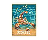 Malen nach Zahlen MNZ - Tierkreiszeichen Skorpion