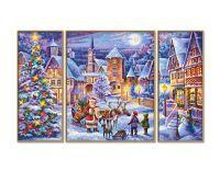 Malen nach Zahlen MNZ - Weiße Weihnacht (Triptychon)