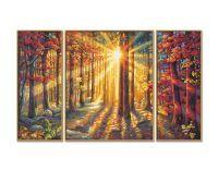 Malen nach Zahlen MNZ - Herbstwald (Triptychon)
