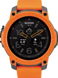 Nixon Smart Watch Mission, Orange/Gray/Black