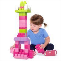 Mattel Mega Bloks Bausteinebeutel – Medium 60 Teile – pinkfarben