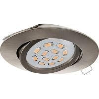 EGLO EINBAUSPOT GU10-LED 5W 3000K NICKEL-M. (31688)