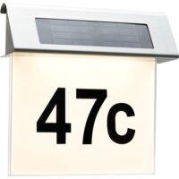 Paulmann Special Solar Hausnummernleuchte IP44 LED 1x0,2W Edelst./Weiß Edelstahl/Acryl (93765)